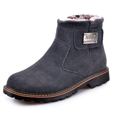 Suede Warm Wearable Boots for Men - GRAY EU 38