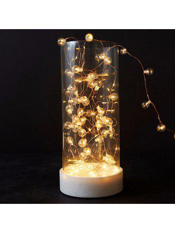 led copper wire round bulb battery christmas string light