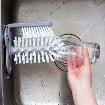 Creative Suction Wall Type Lazy Cleaning Brush - GRAY