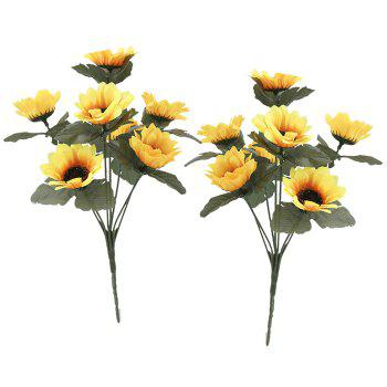 Household Decoration Simulation Artficial Flower - YELLOW