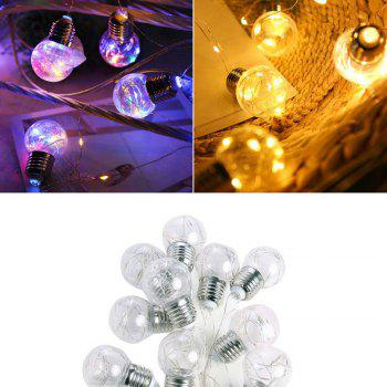 10 Lamps LED Decorative Light String - TRANSPARENT WARM WHITE