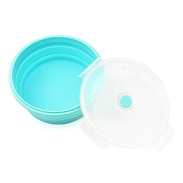 Silicone Foldable Round Shape Food Container Portable Lunch Box - CELESTE 1200ML
