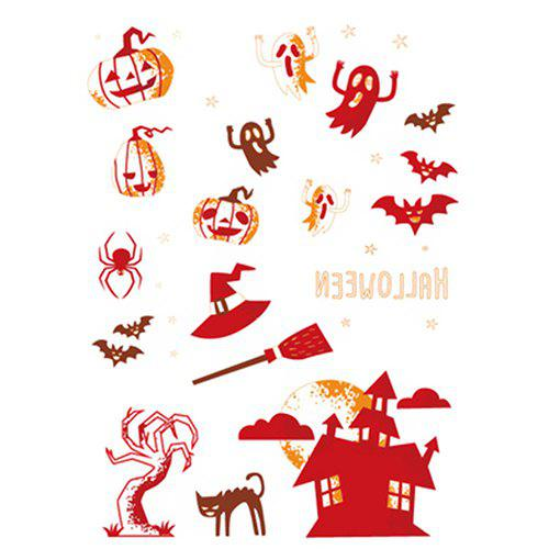 Waterproof One-time Funny Luminous Halloween Tattoo Stickers - multicolor F