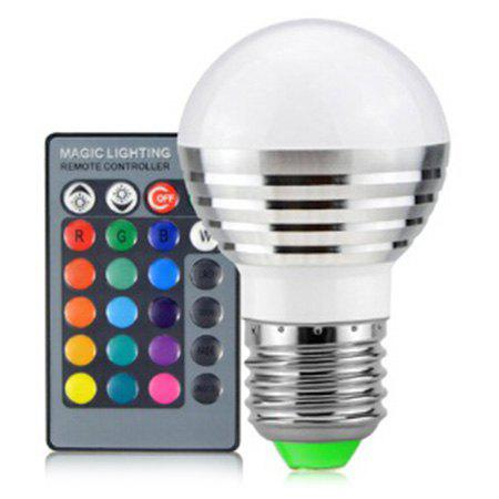 Colorful LED Bulb Remote Color Changing Spotlight - WHITE