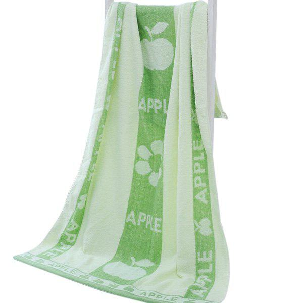 Large Size Cotton Bath Towel for Home Dormitory Travel Use - GREEN PEAS