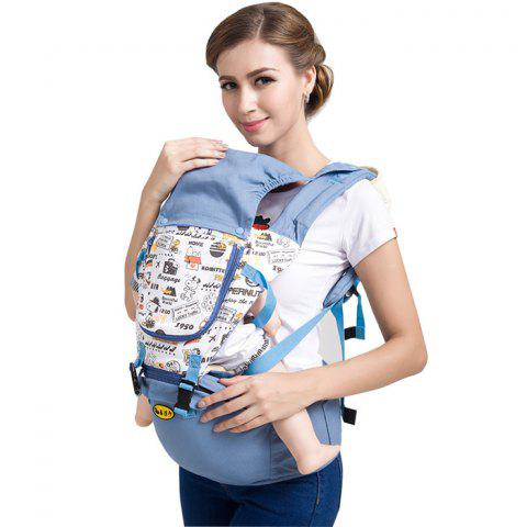 Multifunctional Comfortable Baby Carrier Waist Stool - BLUE IVY