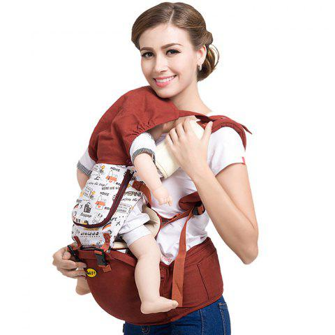 Multifunctional Comfortable Baby Carrier Waist Stool - RED WINE