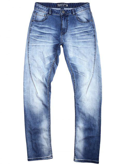 A LA MASTER Fashion Jeans Pants for Men - LIGHT BLUE 32