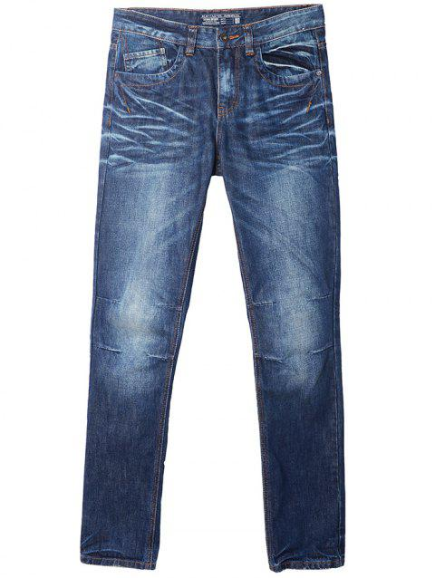 A LA MASTER Fashion Slim Jeans Pants for Men - OCEAN BLUE 30