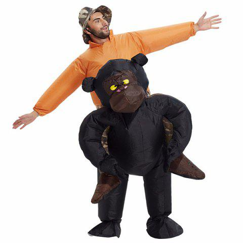 Funny Adult Style Party Annual Meeting Inflatable Gorilla Suit - PAPAYA ORANGE