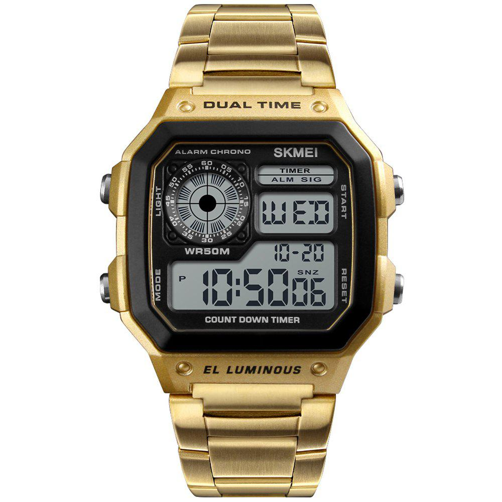 SKMEI 1335 Business Multifunctional Sports Watch for Men - GOLD