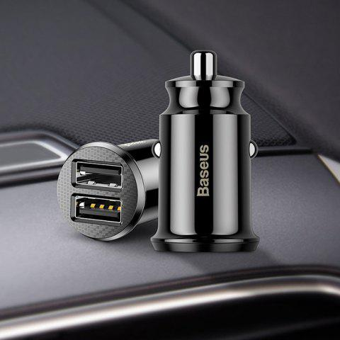 BASEUS Creative Multifunctional 2 USB Interface Car Charger 1pc - BLACK