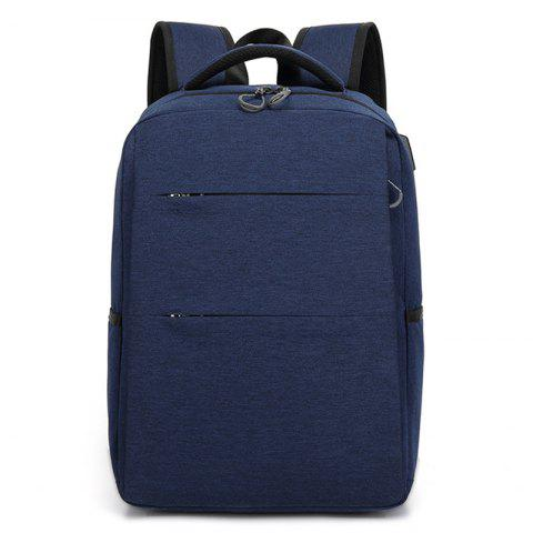 Casual Smart USB Recharge Business Backpack - DARK SLATE BLUE