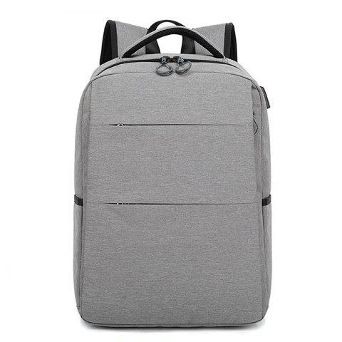 Casual Smart USB Recharge Business Backpack - DARK GRAY