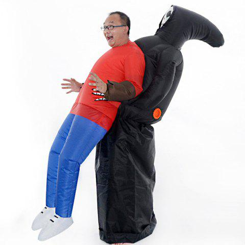 Funny Party Annual Meeting Ghost Embrace People Inflatable Suit - BLACK
