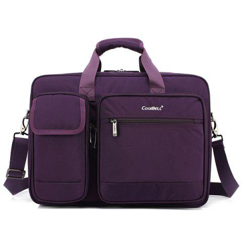 Coolbell Trendy Business Crossbody Bag - DARK ORCHID 15 INCH