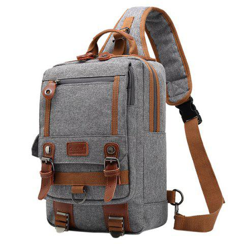 Coolbell Leisure Multifunctional Waterproof Travel Chest Bag for Men - LIGHT GRAY