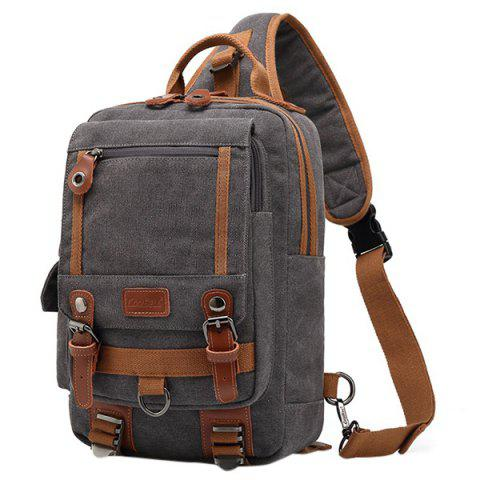 Coolbell Leisure Multifunctional Waterproof Travel Chest Bag for Men - DARK GRAY