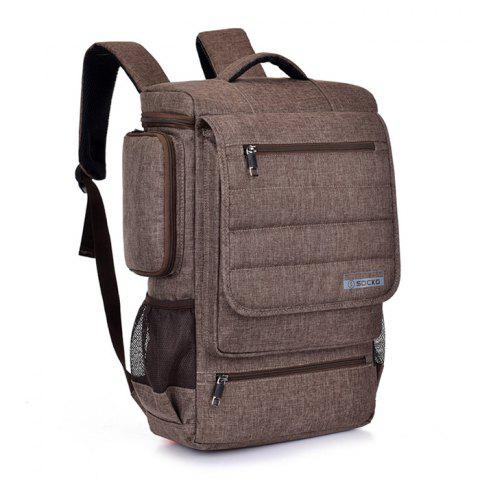 SOCKO Fashionable Outdoor Backpack - BROWN