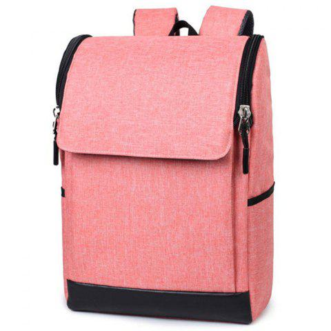 Picano 826 Nylon Practical Backpack - PINK ROSE