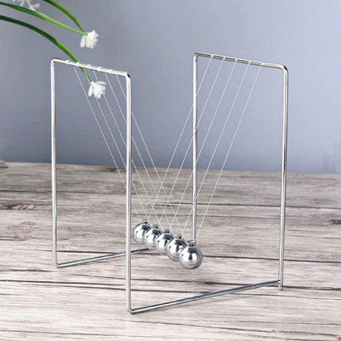 Retro Stainless Steel Toy Pendulum Ball Table Decor - SILVER S