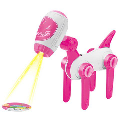 Intelligent Dog Drawing Projector Toy Set for Kids - HOT PINK