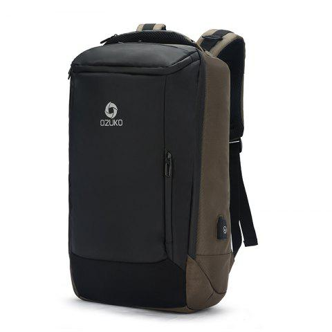 Ozuko Business Waterproof Backpack with USB Port - WOOD SMALL