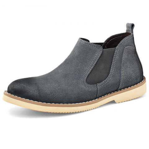 Stylish Wear-resistant Low-top Slip-on Men Casual Boots - GRAY EU 41