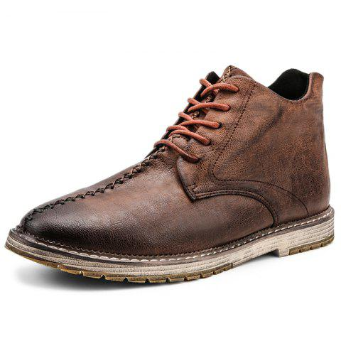 Leisure Comfortable Soft Stylish Classic Boots for Men - LIGHT BROWN EU 47