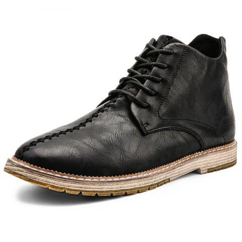 Leisure Comfortable Soft Stylish Classic Boots for Men - BLACK EU 45