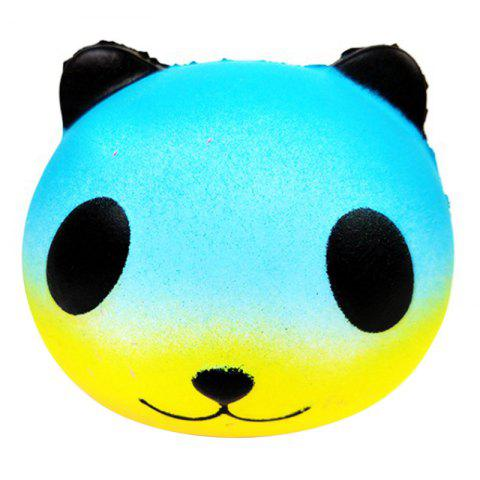 PU Squishy Colorful Star Panda Low Resilience Toy - BLUE ZIRCON