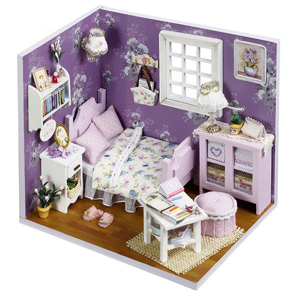 DIY Jigsaw Puzzle Hand-assembled Wood Cottage Dollhouse Model Toy Gift Set 282151301
