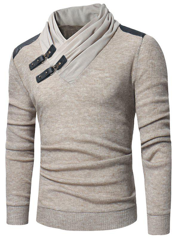 Stylish Pullover Slim Knitwear Sweater for Men - APRICOT M