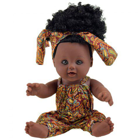 Cute Emulate Reborn Sleep Helping Baby Doll Bath Prop Toy - BROWN