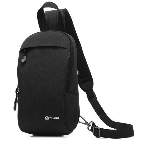 coolbell Men's New Anti-theft Casual Outdoor Chest Bag - BLACK