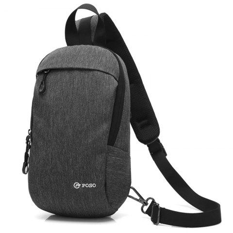 coolbell Men's New Anti-theft Casual Outdoor Chest Bag - GRAY