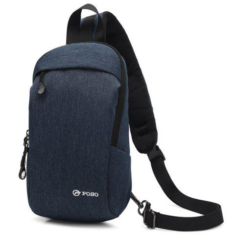 coolbell Men's New Anti-theft Casual Outdoor Chest Bag - BLUE
