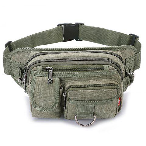 Simple Fashionable Canvas Chest Bag - CAMOUFLAGE GREEN