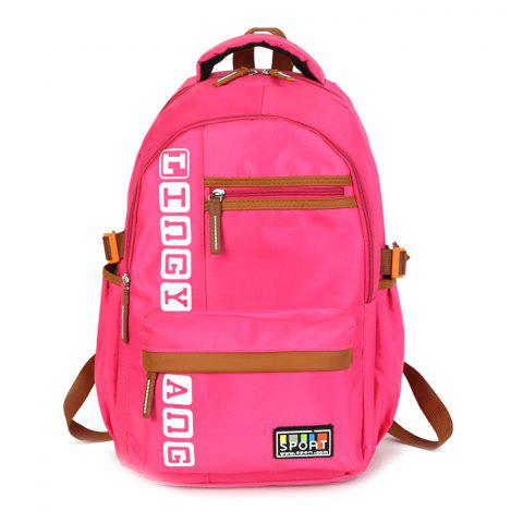 Multi-function Fashion Leisure Backpack - DEEP PINK