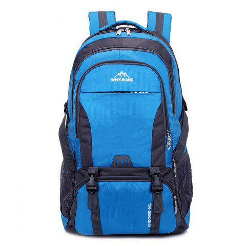 High Capacity Wear Resistance Backpack - BLUEBERRY BLUE