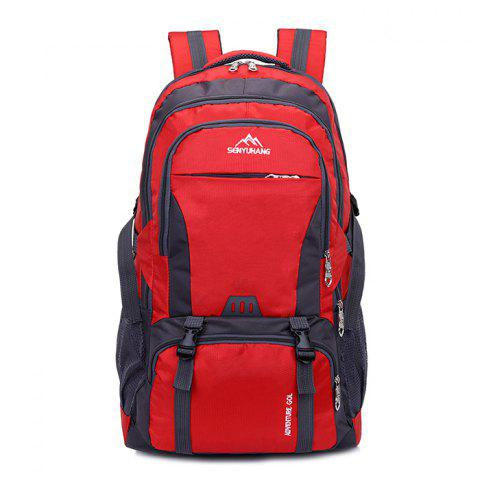 High Capacity Wear Resistance Backpack - RED