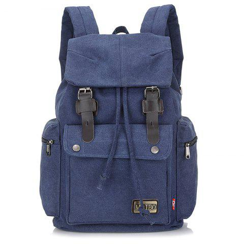 Durable Outdoor Canvas Backpack - LAPIS BLUE