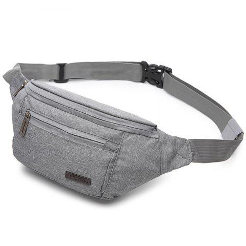 meiletoo Multi-function Waterproof Anti-theft Invisible Casual Waist Bag - DARK GRAY