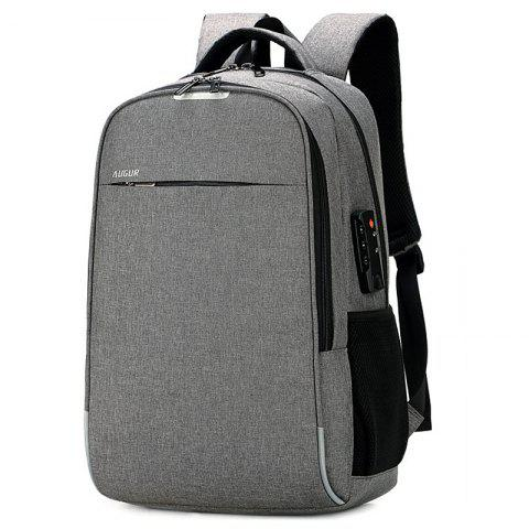 bd38a5d3947 AUGUR Leisure Anti-theft Laptop Travel Backpack with USB Charging Port -  LIGHT GRAY