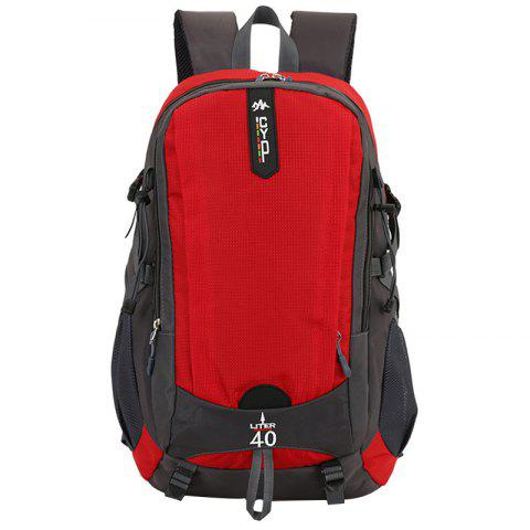 Wearable Large Capacity Nylon Backpack - RED