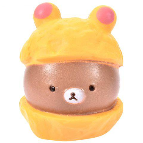 PU Squishy Simulation Bear Low Resilience Toy - BROWN SUGAR