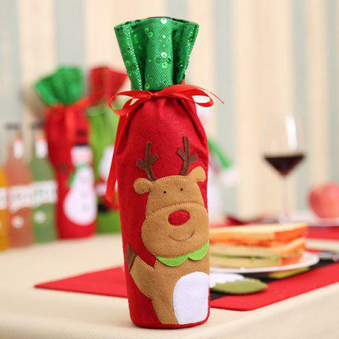 Creative Wine Bottle Cover Bag for Christmas Home Party Decoration - BROWN SUGAR