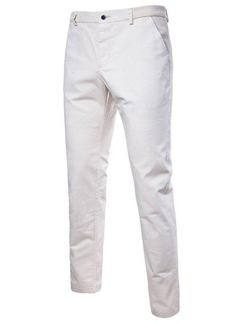 Stylish Solid Color Leisure Pants for Male - WHITE 38
