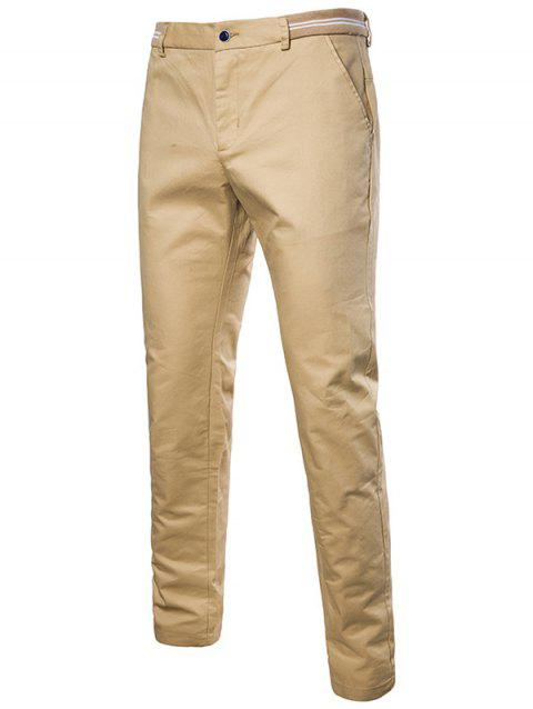 Stylish Solid Color Leisure Pants for Male - KHAKI 30