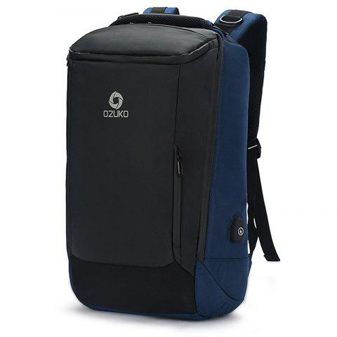 Ozuko Business Waterproof Backpack with USB Port - DARK SLATE BLUE SMALL